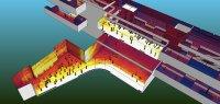 Die Aufheizungsintensität bei Sonneneinstrahlung hinter großen verglasten Flächen beeinflusst die Auslegung der Kühltechnik. (© HTCO GmbH)