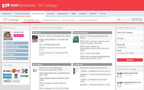 """Hier werden unter """"Create New PDF Catalog"""" das Dokument mit Titel und Beschreibung hochgeladen und anderen Nutzern zur Verfügung gestellt. Wenn Sie bereits einen Account besitzen, dann kontaktieren Sie uns bitte unter Marketing@cadenas.de und wir upgraden diesen zu einem Business Account. Senden Sie uns hierzu Ihren Usernamen – wir erweitern Ihren Zugang, sodass Sie selbstständig Ihren Katalog hochladen können"""