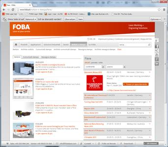 www.foba.it with interactive trade show calendar
