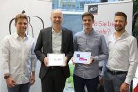 v.l.n.r.: Moritz Salem, Co-Gründer McWERK; Rainer Kalkbrener, Vorstand ACP Gruppe; Michael Döltl, Co-Gründer McWERK; Thomas Koch, Co-Gründer McWERK