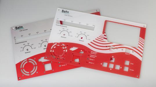 Per UV-Druck bedruckte Frontplatte aus Acryl