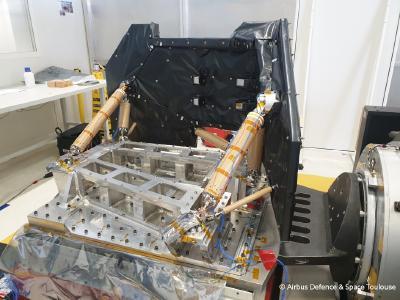 CFK-Stützstrukturen vor dem Test