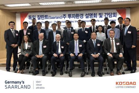 Koreanische Tech-Börse KOSDAQ stellt seinen Mitgliedern Wirtschafts- und Investitionsstandort Saarland vor