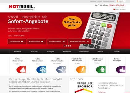 Mit wenigen Klicks können sich die Internetbesucher ihr persönliches Sofort-Angebot direkt auf der Homepage von Hotmobil erstellen