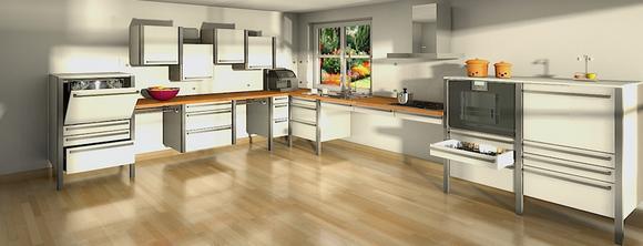 Beispiel einer barrierefreien Küche von WohnKontrast