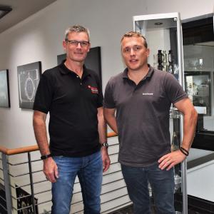 BU 0: Machen künftig gemeinsame Sache: Michael Wohlmuth, Geschäftsführer und CEO simufact engineering gmbh (links) und Christoph Hauck