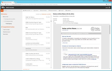 Der neue responsive Web Access in MailStore Server 10.2.
