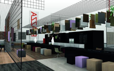 "Konzept der PIAZZA ""Trends in Surfaces & Wood Design"" (Bild: TRENDFILTER.net / koelnmesse)"