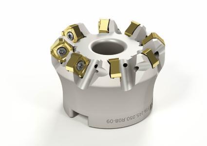 ARNO Werkzeuge präsentiert mit FT-Planfrässystem 09 ein neues Produkt, das aus stabilen Trägerwerkzeugen mit mehr Zähnen und dazu passende kleineren Wendeschneidplatten besteht / ©Quelle/Bildrechte: ARNO