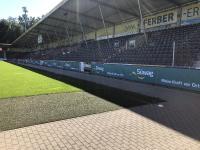 Die Süwag ist auch optisch präsent in der WIRmachenDRUCK Arena der SG Sonnenhof Großaspach