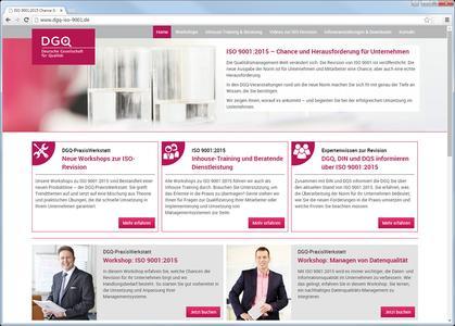 Neue DGQ-Website auf Basis von Wordpress informiert zur Revision der ISO 9001