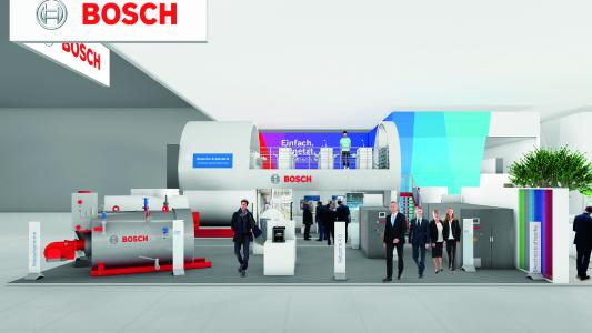 Digital und vernetzt: Smarte Services und effiziente Energielösungen für Gewerbe und Industrie zeigt Bosch auf der ISH Energy 2019.