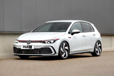 VW Golf VIII GTi mit H&R Sportfedern