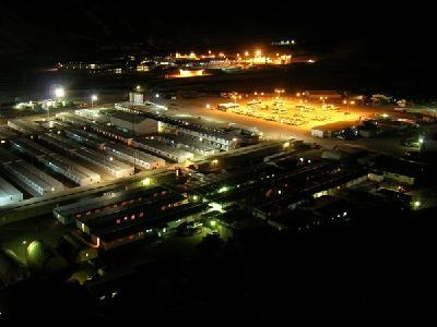 Nacht auf der Veladero-Mine; Foto: Barrick Gold