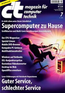 Das Titelbild der aktuellen c't-Ausgabe 07/2009