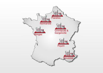 Total-Raffinerien in Frankreich flächendeckend mit OpenTAS, © Implico