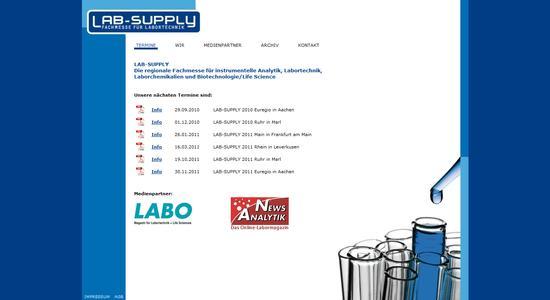 Laborfachmesse LAB-SUPPLY mit neuer Homepage