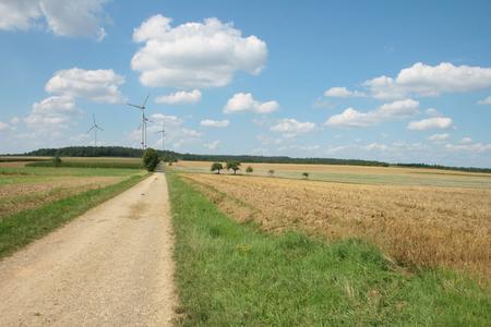 Visualisierung Windpark Bürgerwald von Green City Energy / Standort Wels