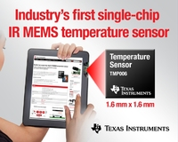 Texas Instruments MEMS innovation brings IR temperature measurement to portable consumer electronics
