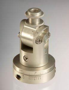 Einstellvorrichtung  mit lasergravierten Skalen und Nonien