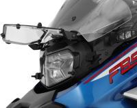 Scheinwerferschutz »CLEAR«: 3 mm starkes, transparentes Acrylglas, schwarz beschichteter Edelstahlrahmen