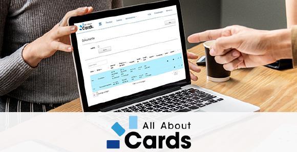 """Im firmeneigenen """"Collaboration Tool"""" von All About Cards werden Dokumente wie Korrekturabzüge und Druckdaten sicher und DSGVO-konform übermittelt."""