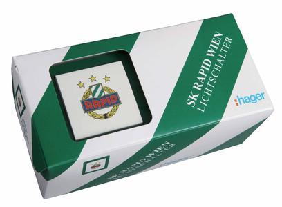 SK Rapid Wien Fan-Lichtschalter in Verpackung