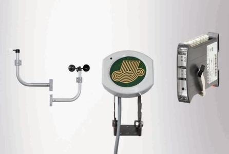 Wind direction and wind speed indicators, rain sensor and the GEZE MBZ 300 weather module