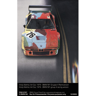 Andy Warhol, Art Car, 1979 - BMW M1 Gruppe 4 Rennversion (12/2003)