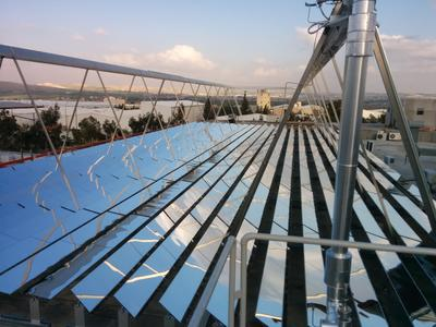 Industrial Solar Fresnel Kollektor bei RAM Pharma