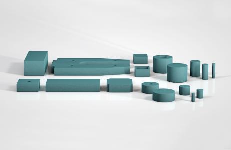ACE SLAB bietet Lösungen nach Maß: Je nach Kundenwunsch und -anforderung zuschneidbare Platten für die Stoßdämpfung oder für die Schwingungsisolierung