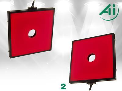 Abb. 2 Flache diffuse LED-Leuchte (FD0808)