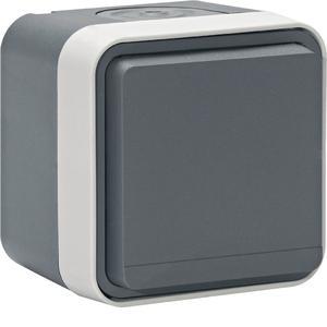 Berker W.1 ist ein formschönes, robustes, wassergeschütztes Schalterprogramm für Außen- und Innenbereiche.