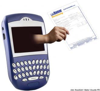 """""""Mobile Approval"""" von ReadSoft ermöglicht die Rechnungsfreigabe mit mobilen Endgeräten wie dem BlackBerry"""