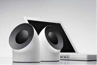 LaCie stellt neue USB-Lautsprecher im Design von Neil Poulton vor