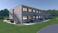 Mehrgeschossige Gebäude auf Zeit für Schulen und Kitas, Adapteo GmbH