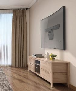 Zur Befestigung von Samsung® QLED™ TVs an der Wand bei geringstem Platzbedarf und Wandabstand