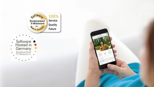 "DoorBird App certified as ""Software Made in Germany"". Photo: Bird Home Automation GmbH"
