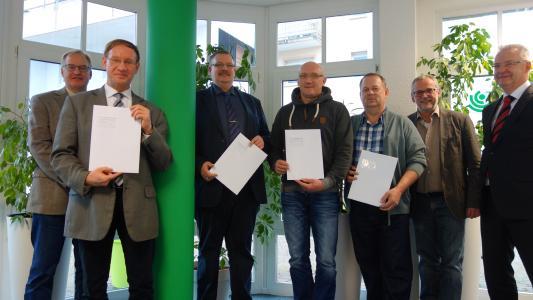 Zertifikats-Übergabe an der Hochschule in Furtwangen