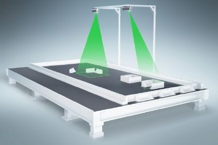 Laserprojektionssystem für das präzise Positionieren von Elementen wie Einbauteilen an den Belegungsstationen.Quelle: LAP GmbH Laser Applikationen
