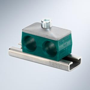 Original Stauff clamps according to DIN 3015 and made of Polypropylene (PP) – mounted on a channel rail (Picture: Walter Stauffenberg GmbH & Co. KG)