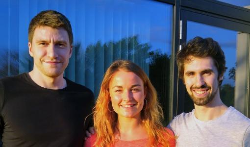 Björn Michelsen, Veronika Fischer und Jonathan Kienzle (v.l.) haben Nuclino entwickelt