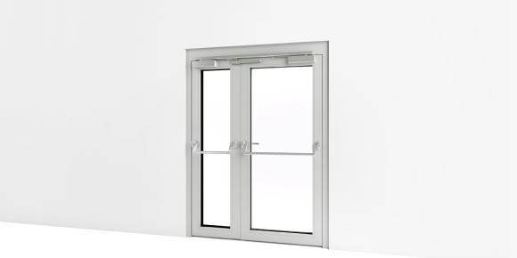 Die BIM Türlösung für 2-flügelige Türen lässt sich mit allen relevanten Produktinformationen ins Planungsystem einbinden. Foto: ASSA ABLOY Sicherheitstechnik GmbH