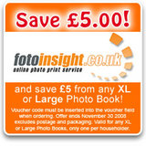 FotoInsight 5th year – giving £5 off photo books