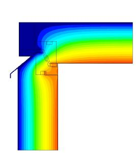 Eine effektive thermische Trennung durch ein innovatives Zwischenprofil verhindert den Wärmeübergang von innen nach außen.