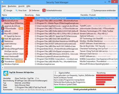 Screenshot: Security Task Manager (795 x 626 Pixel)