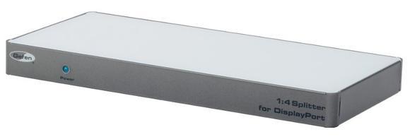 1.4 DisplayPort-Splitter von Gefen verbindet vier DisplayPort-Senken parallel mit ein und derselben Quelle
