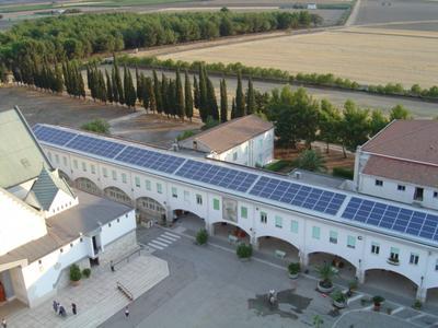 PV roof installation on the Abbey of Santa Maria Incoronata