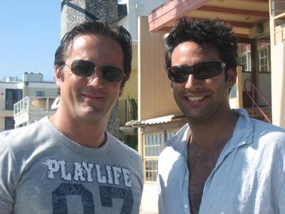 Peter Ladkani (Director) & Darius Rafat (Head of Music NEUE WESTPARK STUDIOS) in L.A.