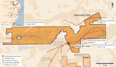 IsoEnergy Intersects 5.5m of Uranium Mineralization in First Drill Hole of Summer Program at the Hurricane Zone